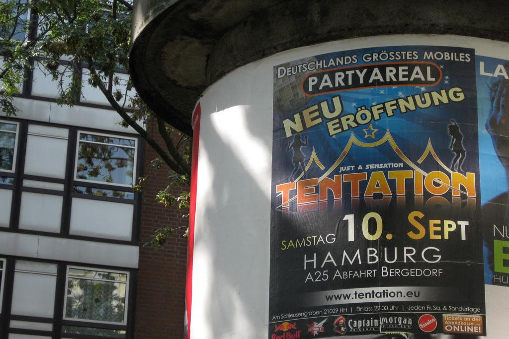 tentation-plakat-bergedorf-zelt-disco-hamburg-andres-lehmann
