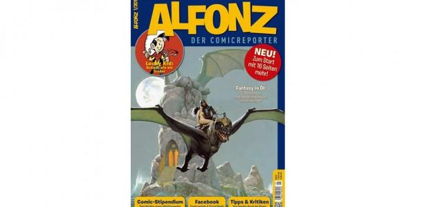 """Die Zeit scheint reif für neue Zeitschriften zu Comics und verwandten Themen. Nach der magazinigen """"Geek!"""" ist nun das Fachblatt """"Alfonz"""" erhältlich. Vor allem letzteres überzeugt."""