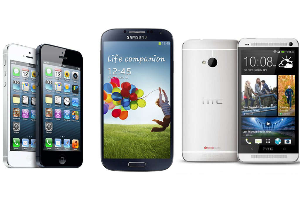 apple-iphone-5-samsung-galaxy-s4-htc-one
