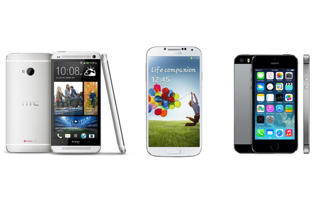 htc-one-samsung-galaxy-s4-apple-iphone-5s