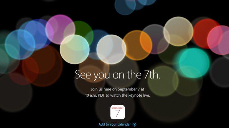 Apple Keynote: September Event im Live-Stream: Das iPhone 7 naht!   © apple.com / Screenshot