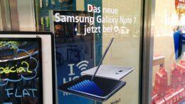 Samsung Galaxy Note 7: Im Schaufenster...   © Andres Lehmann / ukonio.de