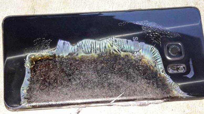 Verkohltes Samsung Galaxy Note 7 | © Tham Hua