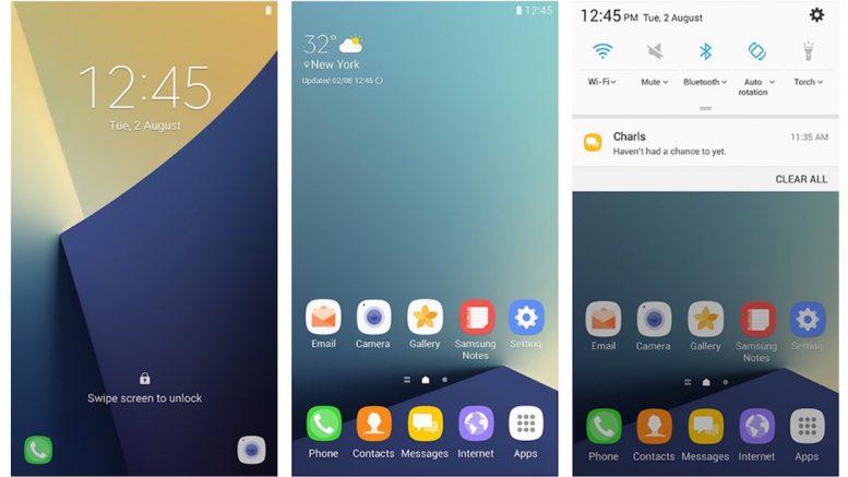 Android 7.0 Nougat mit der Benutzeroberfläche Grace UX auf dem Samsung Galaxy S7 | © Samsung